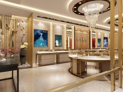 珠宝展柜的造型结构